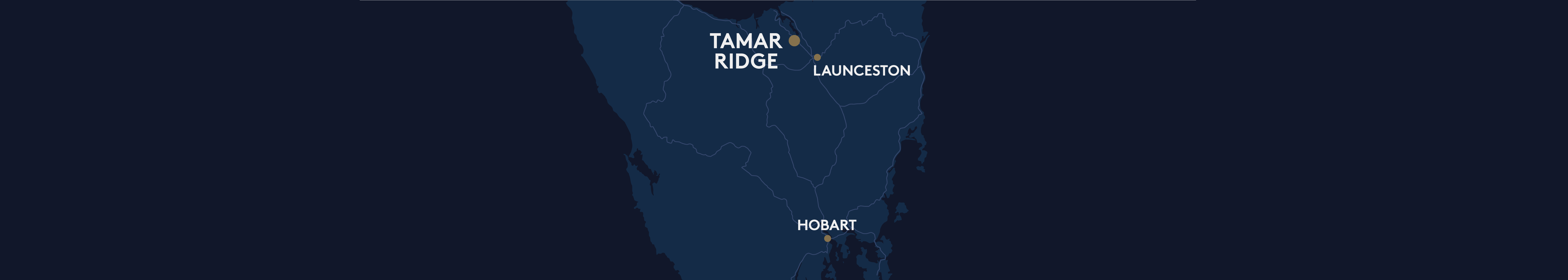 Tamar Ridge location map